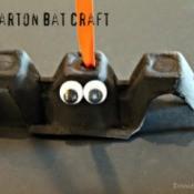 Halloween Egg Carton Bat