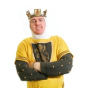 Man in Yellow King Costume
