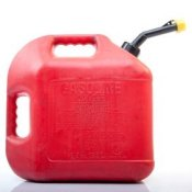 Disposing of Old Gasoline, Red gas can.