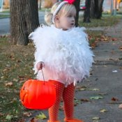 Cute Little Girl in Chicken Costume