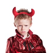 Boy in Devil Costume