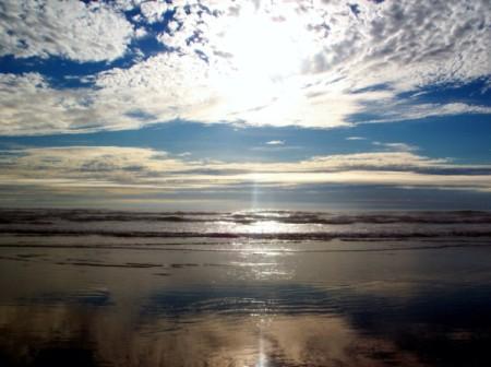 Beach Sunset at Whiskey Run Beach Oregon
