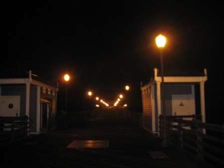 Lighted Pier at Night