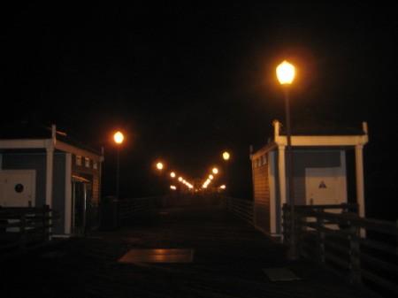 Lighted Pier at Night