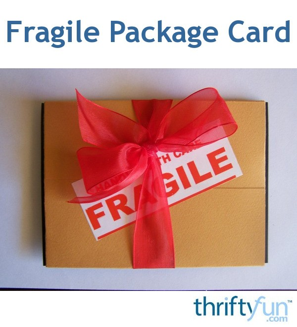 Making A Fragile Package Birthday Card