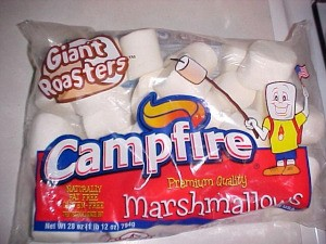 Bag of Giant Roasters Campfire marshmallows.