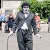 Man on the Street in Charlie Chaplin Costume