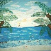 Beach Scene Mural