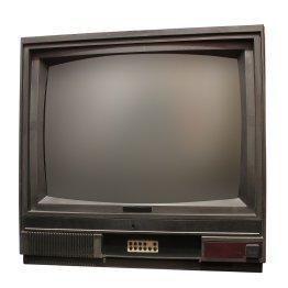 Old television set.