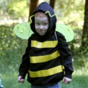 Boy in No-sew Bumblebee Costume