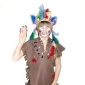Boy Dressed as Indian Chief