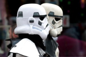 Two men Dressed as Storm Troopers