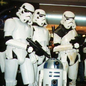 Three Men Dressed as Storm Troopers
