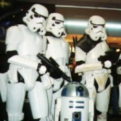 Three Men Dressed as Storm Troopers