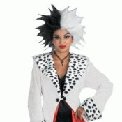 Woman Dressed as Cruella De Vil