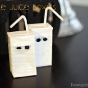 Tow completed mummy juice boxes.