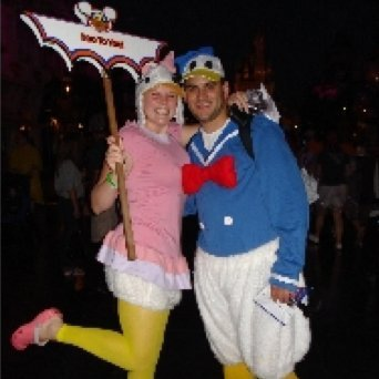 Couple in Donald and Daisy Duck Costume & Making a Donald and Daisy Duck Costume | ThriftyFun