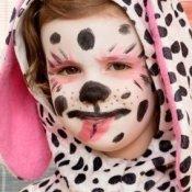 Cute girl in dalmation costume