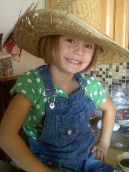 Young Girl Dressed as Hillbilly
