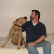 Man and Dog Singing Together