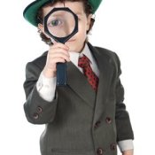 Little Boy Dressed as Detective