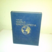 One volume of a Harver World encyclopedia.