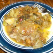 Plate of stew.