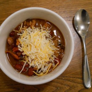 Bowl of homemade chili con carne