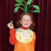 Girl in Baby Carrot Costume