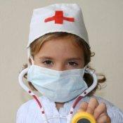 Girl Dressed as a Nurse