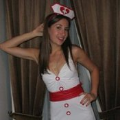 Woman in Nurse Costume