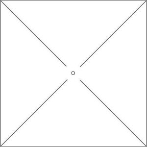 Cutting template for pinwheel carc.