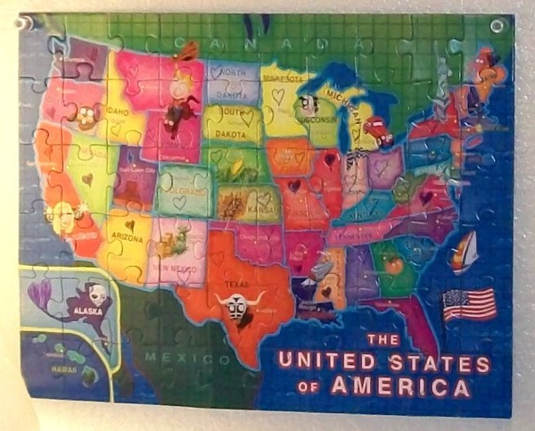 US Map Puzzle To Mark Your Travels ThriftyFun - World map to mark your travels