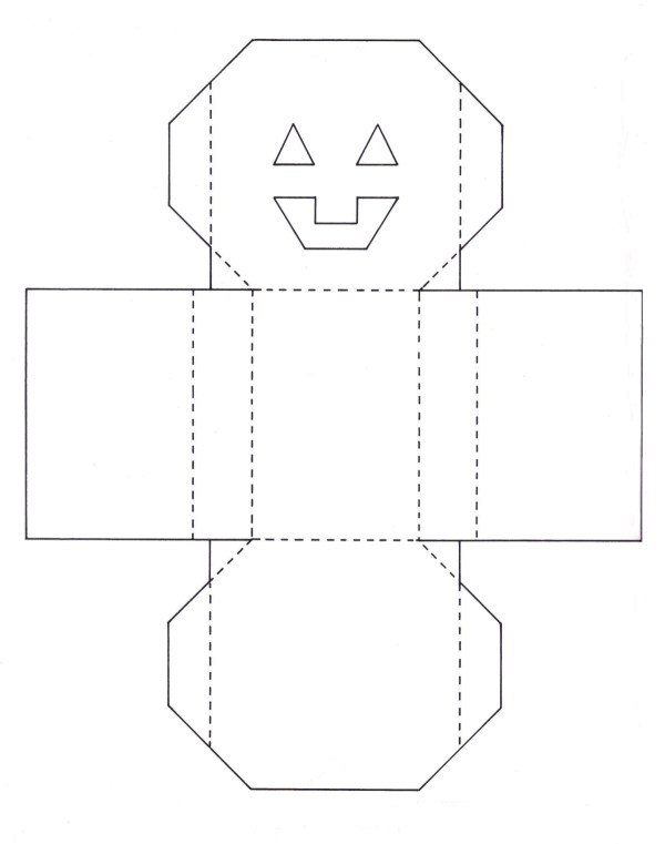 Making a paper jack o lantern basket thriftyfun pattern for the pumpkin basket pronofoot35fo Image collections