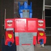 Man Dressed in His Optimus Prime Costume