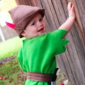 Little Boy in Peter Pan Costume