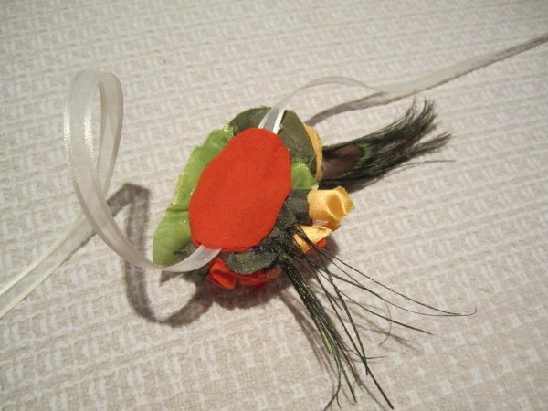 Back of Fall Flower Accessory