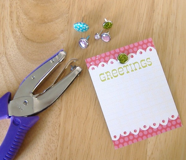 Use Hole Punch To Attach Decorative Brad Thriftyfun