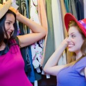 Women Trying on Hats