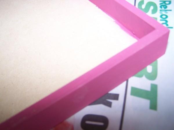 plum paint on edges