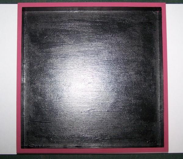 blackboard paint applied