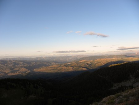 View from the Top of Caribou Mountain