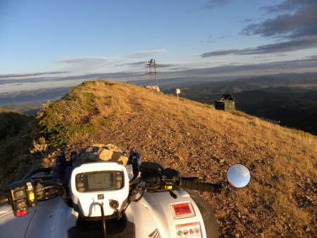 View from ATV's on Caribou Mountain