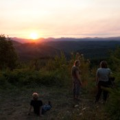 Family and Ranger Watching Sunset in Stub Stewart State Park