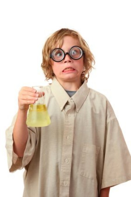 Boy Dressed as Mad Scientist