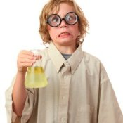 Boy Dressed as Mad Scientist