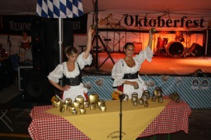 Bavarian Performers Playing Cowbells