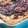 A blackberry cobbler just out of the oven.