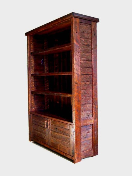 Rustic looking bookcase.