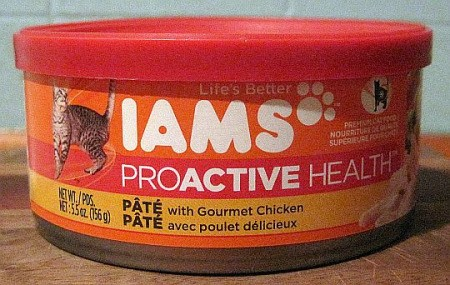 Bean dip lid on cat food can